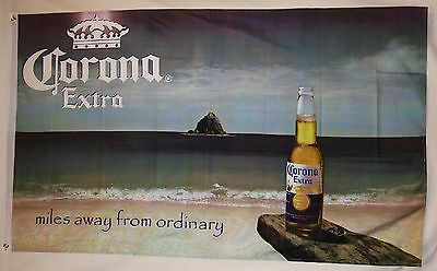 Corona Extra Miles Away From Ordinary Beer Flag 3' X 5' Deluxe Banner