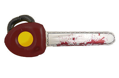 Inflatable Blow up Bloody Chainsaw Halloween Trick Or Treat Party Prop 71cm 28""