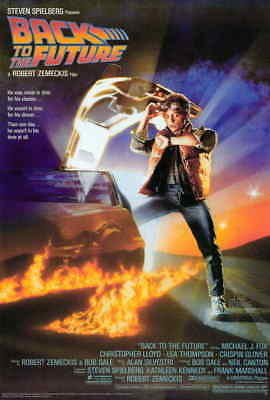 Back To The Future (1985) Michael J. Fox Christopher Lloyd Movie Poster 24x36