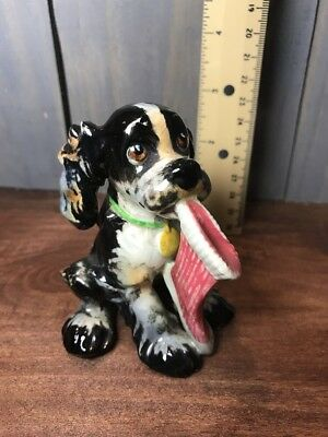 Goebel Pesky Butch the Dog with Sock in Mouth 1957 Staehle Figurine W Germany