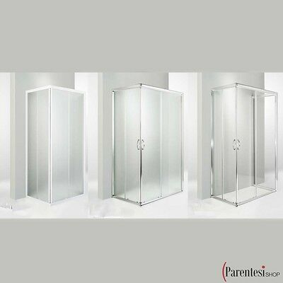 Cabine De Douche 65x65 Cm Verre Trempe 6 Mm Transparent Porte