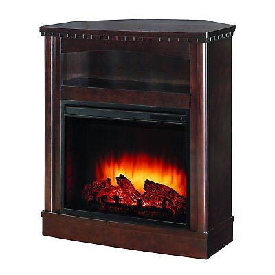 Pleasant Hearth Fireplace W Wall Corner Mantel Combination Vff