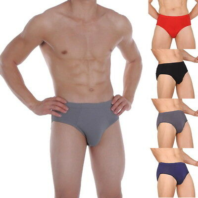 USA Men Bamboo Fiber Briefs Shorts Ventilate Underwear Everyday Brief Shorts 8SJ