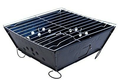 Fresh Grills Foldable BBQ Barbecue Flat Pack Portable Camping Outdoor Garden