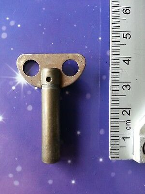 Size 3 Antique Vintage Clock Winding Winder Key Mantle Grandfather 4Cm Long