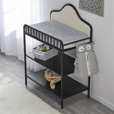 Little Seeds Metal Upholstered Changing Table - BLACK (ONLY LOCAL PICKUP)
