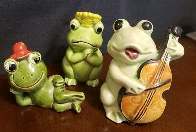 Vintage Frog figurines, lot of 3