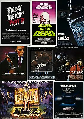 Horror Movie Poster Collection 1/Wall Art:Laminated:A4:!!Buy 2 Get 3 FREE!!!!