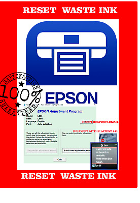 RESET EPSON UNLIMITED L805 Adjustment Program (Digital Download) No Lock