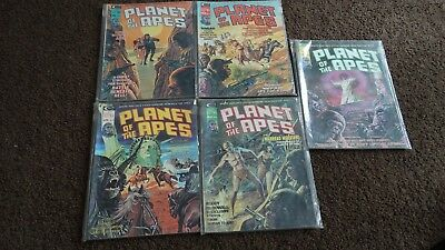 Vintage Planet of The Apes Comic Magazines Lot of 5 Bronze Age