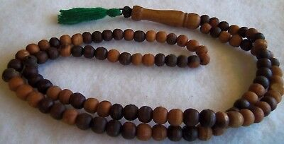 antique vintage rosary old wooden beads  very old rare  estate