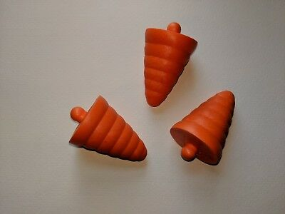 General Foam Blow Mold Replacement Large Snowman Nose (lot of 3)