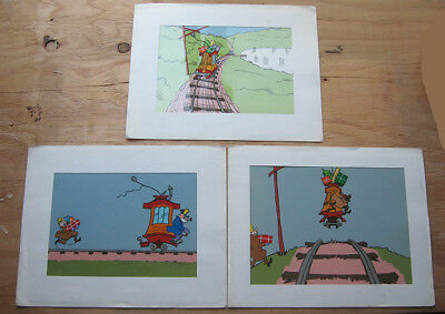 Lot Of Three Original Toonerville Trolley Animation Cels - Fontaine Fox