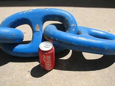 Vintage Antique LARGE Wood FOUNDRY Mold MARINERS CHAIN