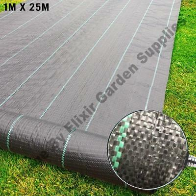 Garden Ground Check 1M X 25M Heavy Duty Weed Control Cover Membrane Easy Cut