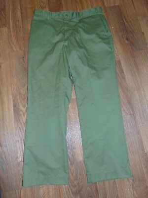 NEW Vintage Boy Scouts Of America 40 X 32 Official Uniform Pants BSA Green USA