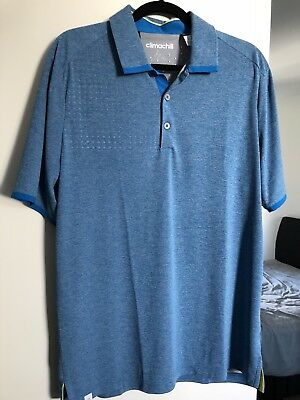 New Adidas Climachill Mens Golf Shirt L Large Polo 360 Boost