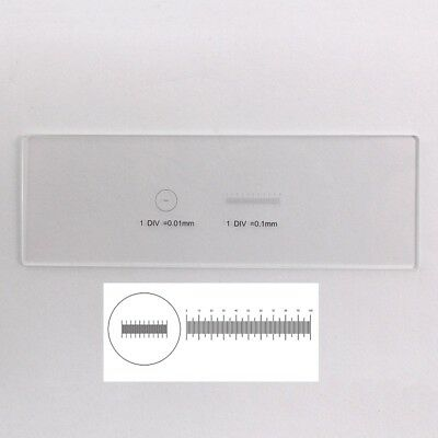 Scale Ruler 0.1mm 0.01mm Microscope Stage Micrometer Calibration Slide 2 Dots
