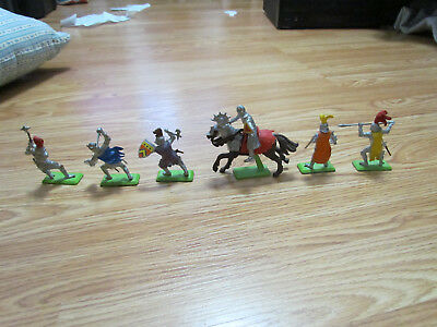 Vintage Lot of 6 Deetail Knights from 1971, BritainsLtd, Made in England