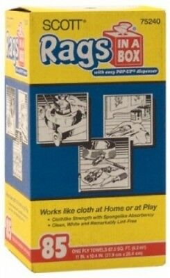 Kimberly Clark 85 Count White Scott® Rags In-A-Box 75240. Scott Products