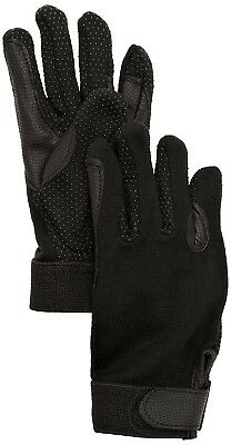 (9/XL, Black) - SSG Fleece Lined Winter Gripper Riding Gloves. Best Price