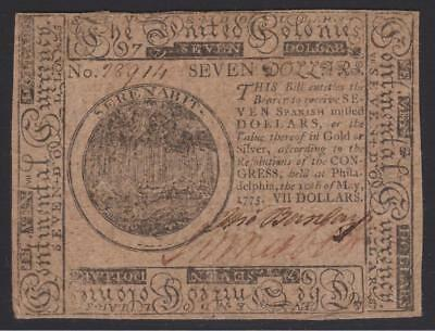 CC-7 *** PCGS VF25 ***  $7.00  May 10, 1775 Continental Colonial Currency