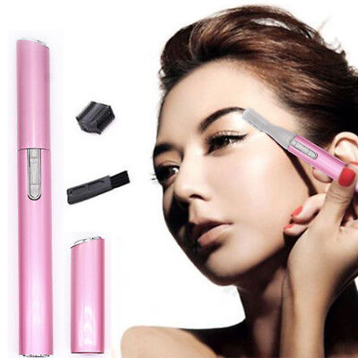 Women's Electric Lady Shaver Legs Eyebrow Shaper Trimmer Hair Remover Mini Pink