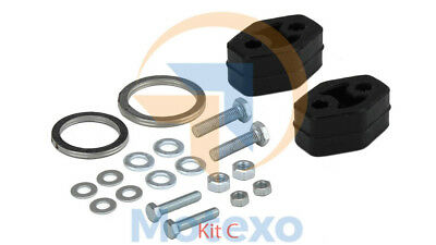 1x Replacement Exhaust Petrol Cat Catalytic Converter Fitting Kit For BM90774