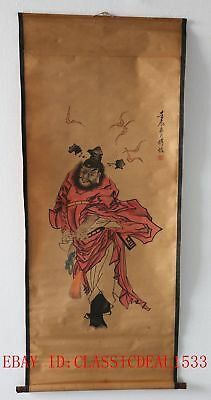 Old Collection Scroll Chinese Painting /Figure Painting—ZhongKui ZH1014+**