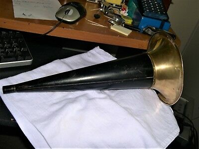 Original Edison Cylinder Phonograph Horn With Pat Apl'd For (1)