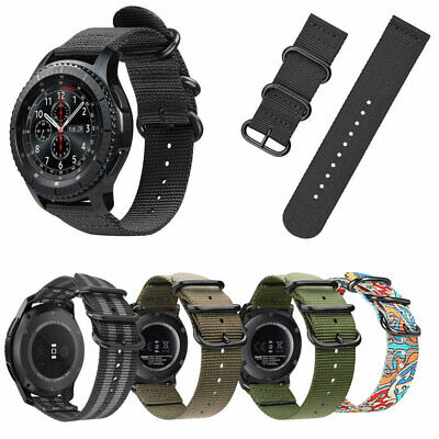 For Samsung S3 Classic/Gear S3 Frontier Sport Watch Band Woven Nylon Strap Bands