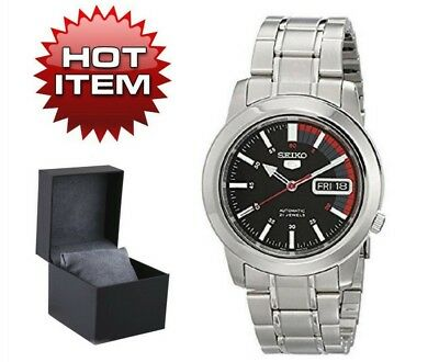dac865229 NEW SEIKO MEN'S Automatic Stainless Steel Wrist Watch Mechanical Movement  Silver - $118.27 | PicClick