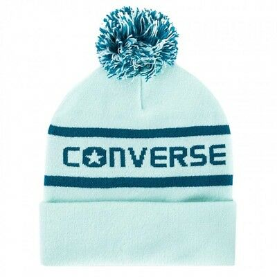 829976000a3 NEW CONVERSE WORDMARK Womens POM BEANIE Knit Hat Jacquard Pink or Mint One  Size