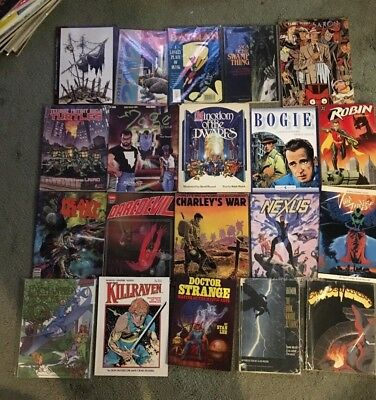 Vintage Lot of 20 Thick graphic novel books/Magazines from 1970's/1980's 1st pr