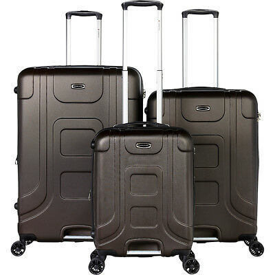 Gabbiano Luca 3 Piece Expandable Hardside Spinner Luggage Set NEW