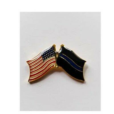 USA Flag Blue Line Flag  Lapel Hat Cap Pin Tie Tac Law Enforcement Honor Police