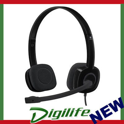 Logitech H151 Stereo Headset Wired Adjustable Noise Cancel Mic