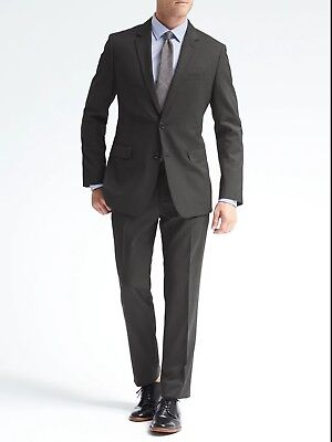 Nwt Banana Republic Dark Charcoal  Suit ( All Sizes ) Standard Fit