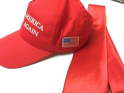 Trump Hat Make America Great Again President cap Tie Donald trump costume kit