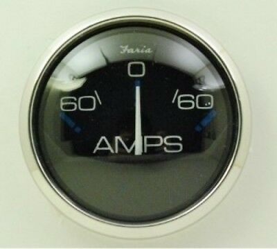Faria Chesapeake Black SS Ammeter 60-0-60. Delivery is Free