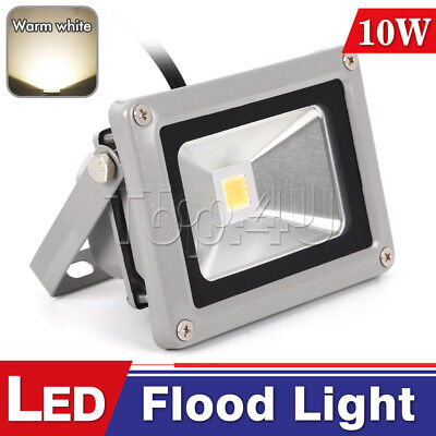 10W LED Flood Light Outdoor Waterproof Garden Security Lamp Warm White