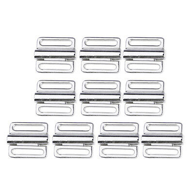 10 Pieces Useful Silver Alloy Bikini Bra Clip for Women Bra Strap Adjuster