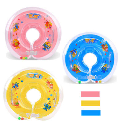 Baby BB Swimming Neck Float Kids Inflatables Ring Adjustable Aids 1-18 Months