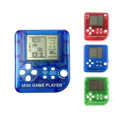 Mini Tetris Game Player Pocket Handheld Game Console Kid LCD Music Game Players