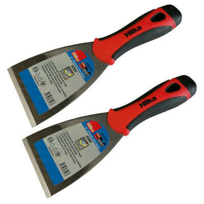 """(Pack of 2) Hilka 3"""" Wall paper Scraper Filling Smoothing Stripping Putty Knife"""