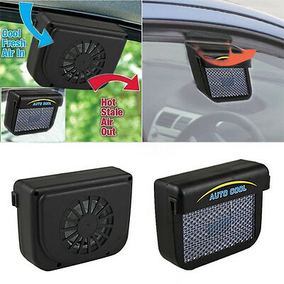 Vehicle Car Solar Sun Powered Power Window Fan Ventilator Auto Cool Air Vent AU