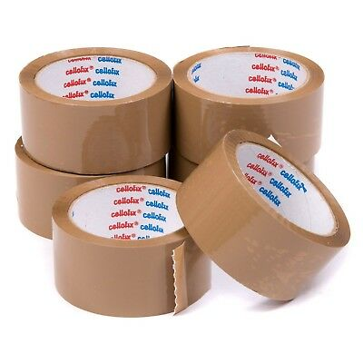 Extra Strong Low Noise Parcel Packing Tape 48Mm X66M Brown / Clear