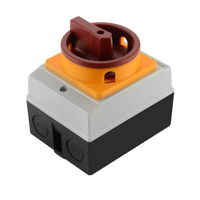 16A 4P IP65 Rotary Isolator Switch Disconnector Electrical Enclosure Box TE825