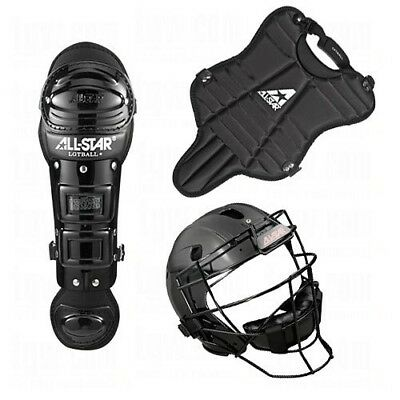 (Black) - All Star Youth League Series Catchers Gear Sets. All-Star