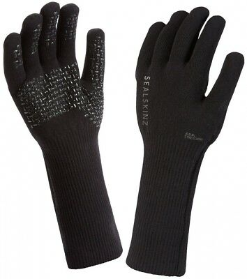 (Extra Large) - SealSkinz Ultra Grip Gauntlet Waterproof Glove - Black
